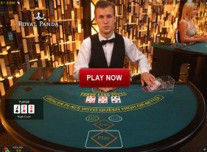 three card poker live
